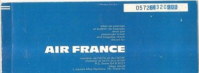 Airline Ticket - Air France - 2 Flight - 1972 (T55)