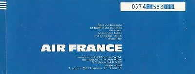Airline Ticket - Air France - 4 Flight - 1972 (T57)