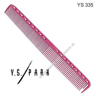 Y S Park Comb YS - 335 PINK Hairdressing High Quality Cutting Comb