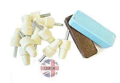 Kit 14 Aluminium Polishing Kit-Excess Stock Great Value-6Mm Felt Bobs