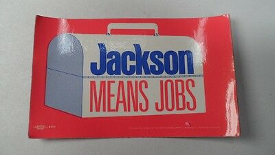 Vintage Henry Jackson Means Jobs Red Lunchbox Labor Union Made Political Sticker