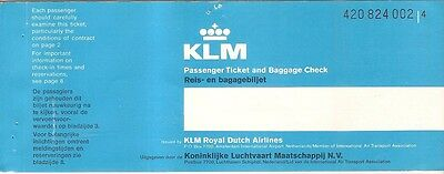 Airline Ticket - KLM - 4 Flight - 1977 (T200)