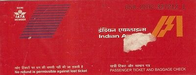 Airline Ticket - Indian - 2 Flight Format - Domestic - 2000 (T228)