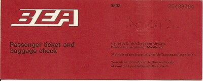 Airline Ticket - BEA - 2 Flight - 1974 - Red Cover (T245)
