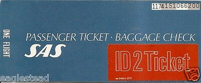 Airline Ticket - SAS - 1 Flight - 1982 - ID2 for Employee (T235)