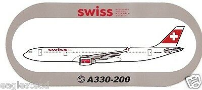 Baggage Label - Swiss - A330 200 - Airbus - Sticker (BL512)