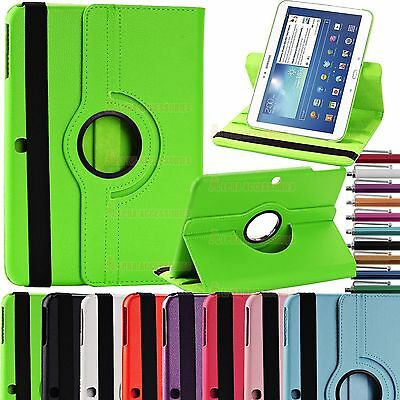"360 Rotatable Leather Case Cover SAMSUNG GALAXY TAB 3 10.1"" P5200, P5210, P5220"