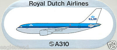 Baggage Label - KLM - A310 - Airbus - Sticker (BL460)