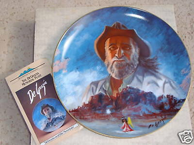 """DeGrazia Memorial Collector Plate 10"""" Gold Trim Numbered MINT IN BOX"""