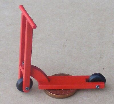 1:12th Scale Red Wooden Scooter Dolls House Miniature Nursery Toy Accessory