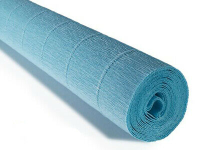 Sky Blue Crepe paper roll 50cm x 2.5m Top quality Italian paper craft