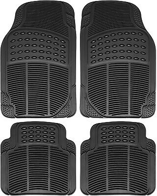 Car Floor Mats for Toyota Camry 4pc Set All Weather Rubber Semi Custom Fit Black
