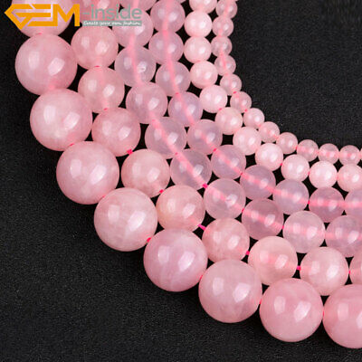 "Natura Gemstone Pink Rose Quartz Loose Beads For Jewelry Making 15"" Jewelry Bead"