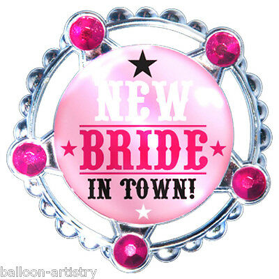 "4.5"" Hen Night Party Wild West New Bride In Town Magnetic Jumbo Sheriff's Badge"