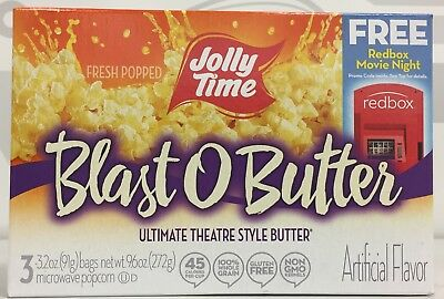 Jolly Time Blast O Butter Ultimate Theatre Style Butter Microwave Popcorn 9 oz