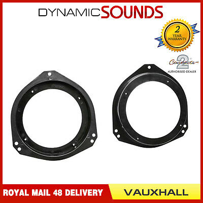 CT25VX08 13cm Car Front Door Speaker Adaptor Kit For Vauxhall Vivaro (2001>)