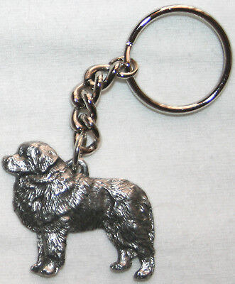 GREAT PYRENEES Dog Fine Pewter Keychain Key Chain Ring