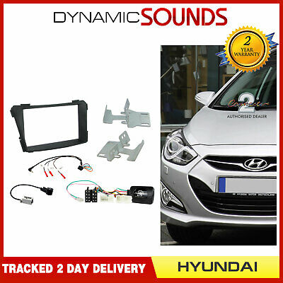 CTKHY05 Double Din Car CD Stereo Stalk Fascia Fitting Kit For Hyundai i40 2011>