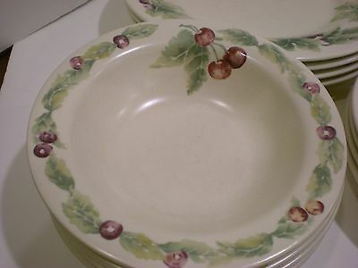 Pfaltzgraff JAMBERRY SOUP SALAD CEREAL BOWLS Set of 3 DINNERWARE