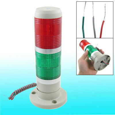 24V Industrial Red Green LED Signal Tower Lamp Warning Stack Light Eqmif