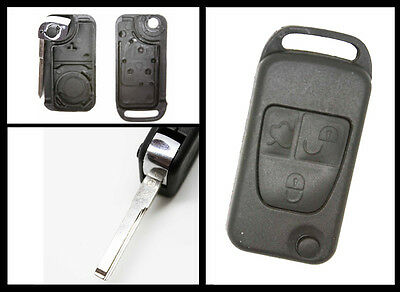Mercedes Benz C E S ML 3 Button Remote  Key FOB Shell Case with HU39