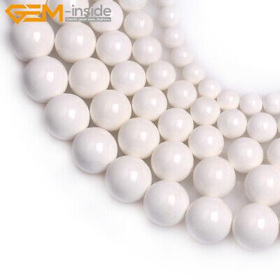 Wholesale Natural White Tridacna Shell Jewelry Making Loose Beads Strand 15""