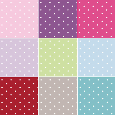 100% Cotton Fabric Lifestyle 10mm Dotty Spots Polka Dots 140cm Wide