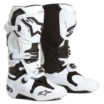 Alpinestars Tech 10 Motocross Stiefel weiß vented Motocross Enduro Cross