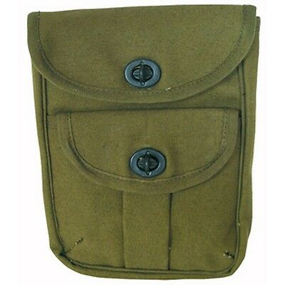 2 Pocket Canvas Ammo Pouch - Olive Drab (O.D.) 9002