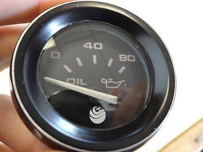 TELEFLEX TEMPERATURE GAUGE 1198 97 4 BLACK FACE /& BEZEL MARINE BOAT