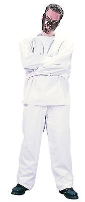 Fancy Dress White Straight Jacket Maximum Restraint