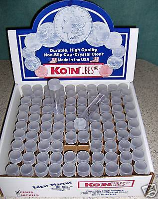 100 KOIN Nickel Coin Tubes BRAND NEW Buffalo storage