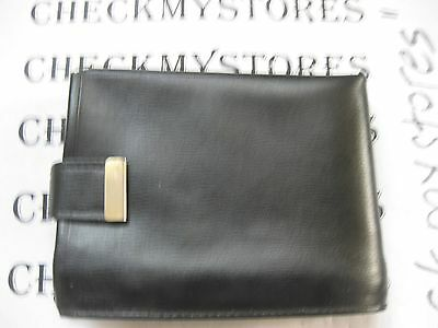Vintage Handmade Savonette  Leather Black Wallet Patented Usa