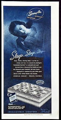 1948 Spring Air Mattresses with Controlled Comfort Magazine Ad