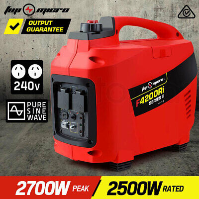 NEW FUJI-MICRO Inverter Generator 2.7kVA Max 2.5kVA Rated Portable Camping