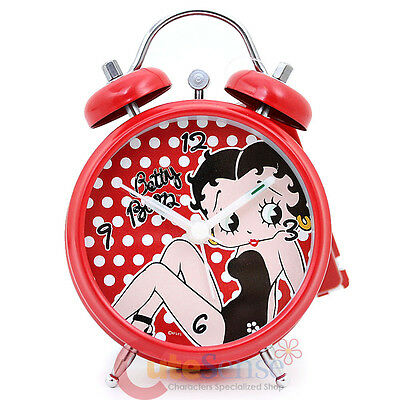 "Betty Boop Bell  Alarm Clock 5"" Red Polka Dots Watch"
