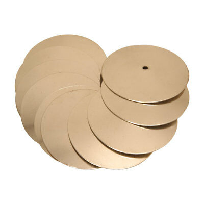 New Replacement Tamourine Frame Drum Brass Jingles - 10 Pk