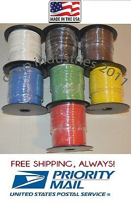 14 gauge 100' FEET X 4 ROLLS = 400' AWG PRIMARY AUTOMOTIVE WIRE COPPER STRANDED