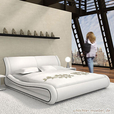 keane polsterbett bett kunstlederbett designerbett 200x200 cm wei eur 629 00 picclick de. Black Bedroom Furniture Sets. Home Design Ideas
