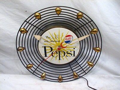 Vintage Art Deco Retro Mid-Centruy Modern Soda Advertising Pepsi-Cola Clock