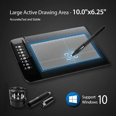 "UGEE M1000L Graphics Tablet Pen Drawing Art Design Large Area 10""x6.2"""