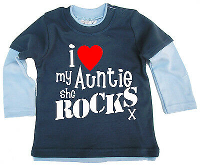 """Uncle Baby Bodysuit /""""I Love My Uncle this Much/"""" Trimmed Babygrow Niece Nephew"""