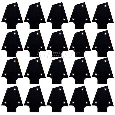 20pc High Quality Black Plastic Tree Style Electric Guitar Truss Rod Cover