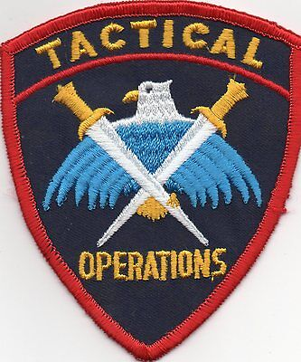 Tactical Operations Police Patch