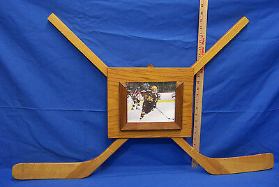 Hand Made Hockey Stick Plaque Picture Frame Trophey Reclaimed Refurbished Wood