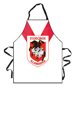 St George Dragons NRL Team Logo and Colours Kitchen BBQ Apron
