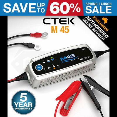 Ctek M45 3.6 Amp 12V Marine Boat Smart Battery Charger Agm Deep Trickle Cycle