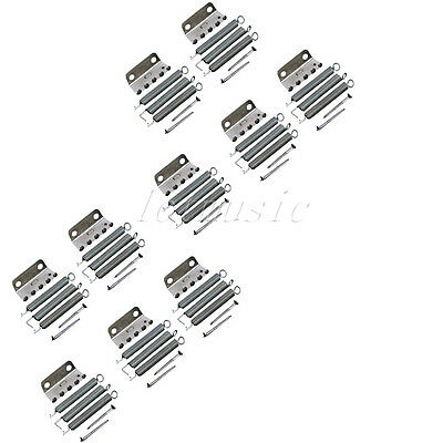 10Set Chrome Guitar Tremolo Claw W/Spring Screw for Fender Strat replacement