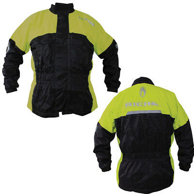 Richa Rain Warrior Motorcycle 100& Waterproof Over Jacket - Black Fluo