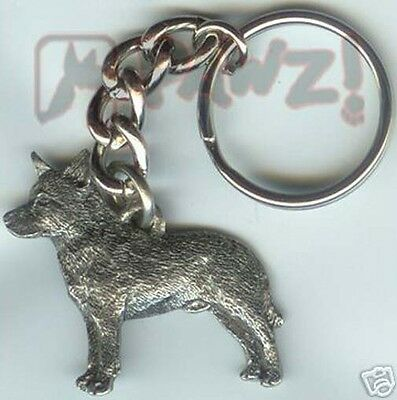 AUSTRALIAN CATTLE DOG Pewter Keychain Key Chain Ring